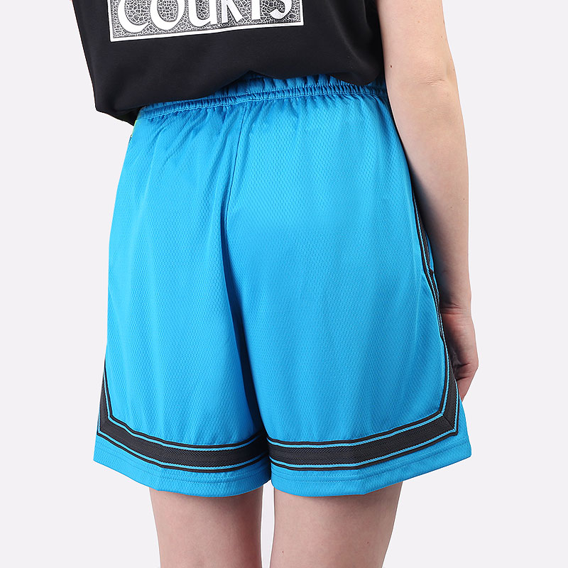 женские голубые  шорты  nike dri-fit swoosh fly women's basketball shorts CK6599-446 - цена, описание, фото 5