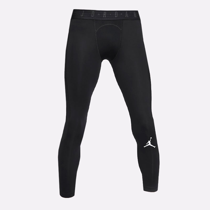 мужские черные  тайтсы jordan dri-fit air 3/4-length tights CZ4796-010 - цена, описание, фото 1