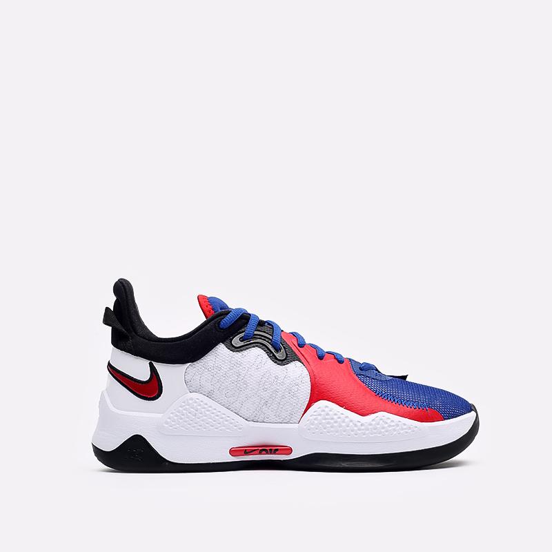 мужские белые  кроссовки nike pg 5 CW3143-101 - цена, описание, фото 1