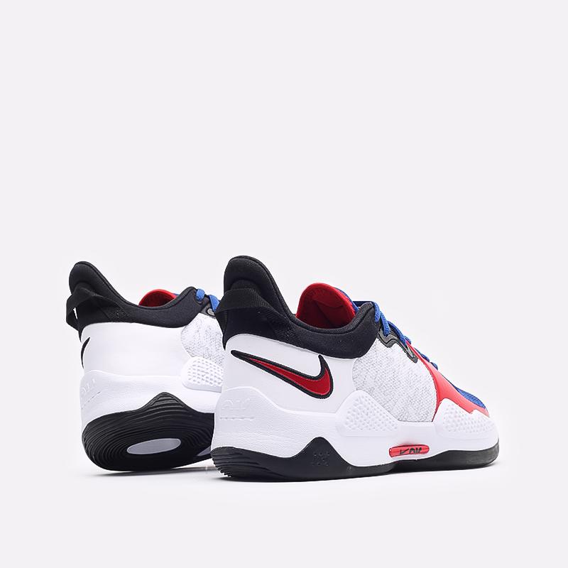 мужские белые  кроссовки nike pg 5 CW3143-101 - цена, описание, фото 3