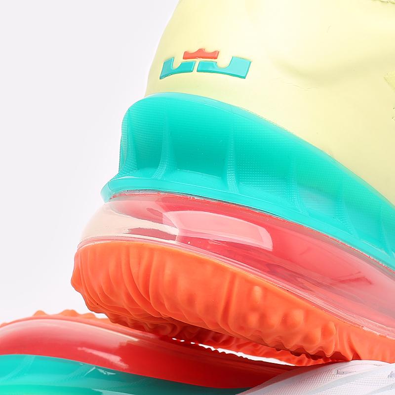 мужские белые  кроссовки nike lebron xviii low CV7562-300 - цена, описание, фото 8