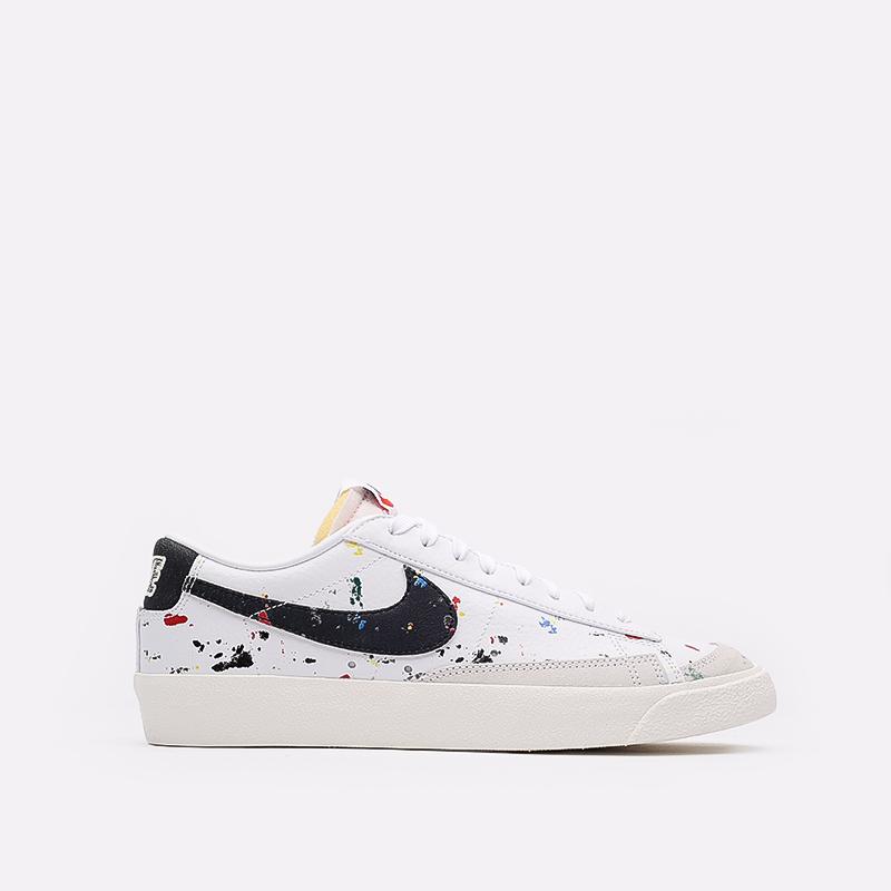 мужские белые  кроссовки nike blazer low '77 DJ1517-100 - цена, описание, фото 1