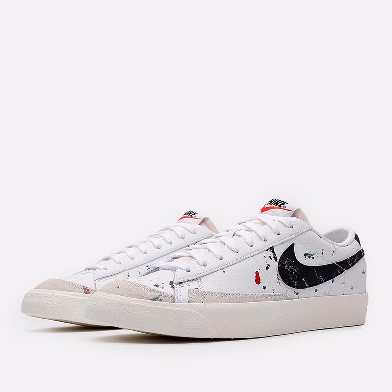 мужские белые  кроссовки nike blazer low '77 DJ1517-100 - цена, описание, фото 2