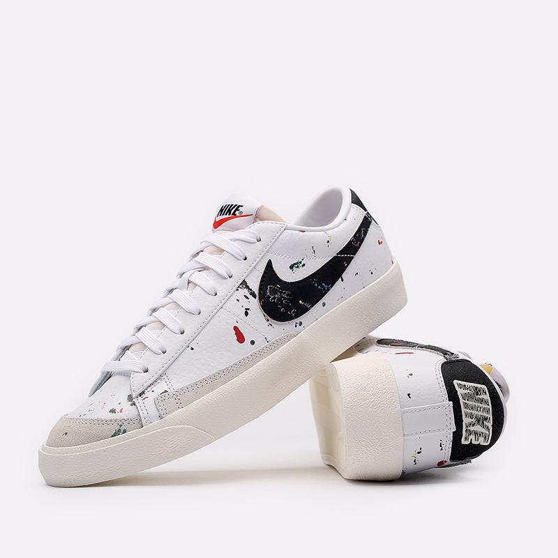 мужские белые  кроссовки nike blazer low '77 DJ1517-100 - цена, описание, фото 5