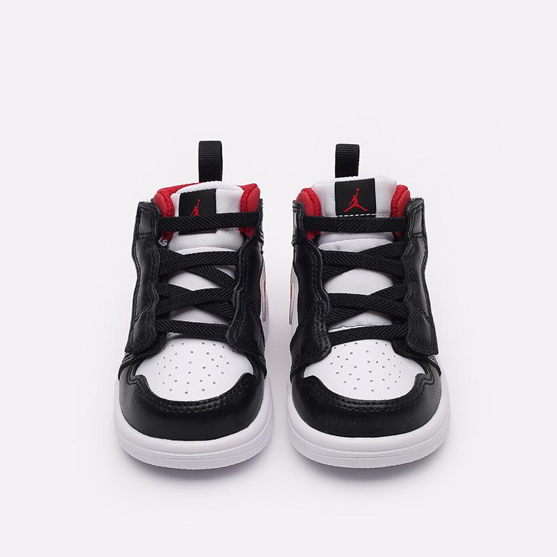 детские чёрные, красные, белые  кроссовки jordan 1 mid alt (td) AR6352-122 - цена, описание, фото 5