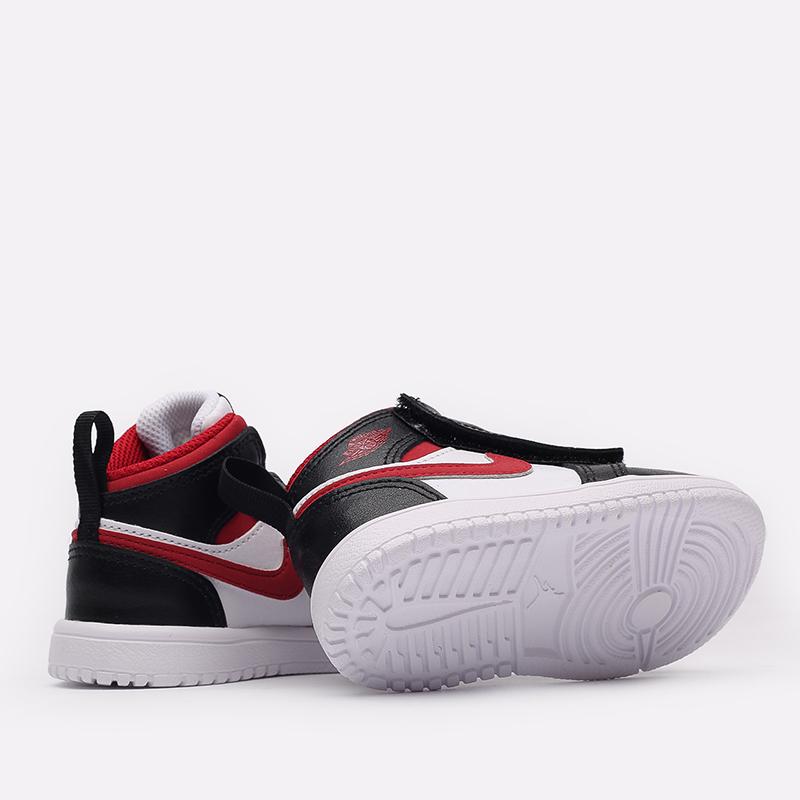 детские чёрные, красные, белые  кроссовки jordan 1 mid alt (td) AR6352-122 - цена, описание, фото 3