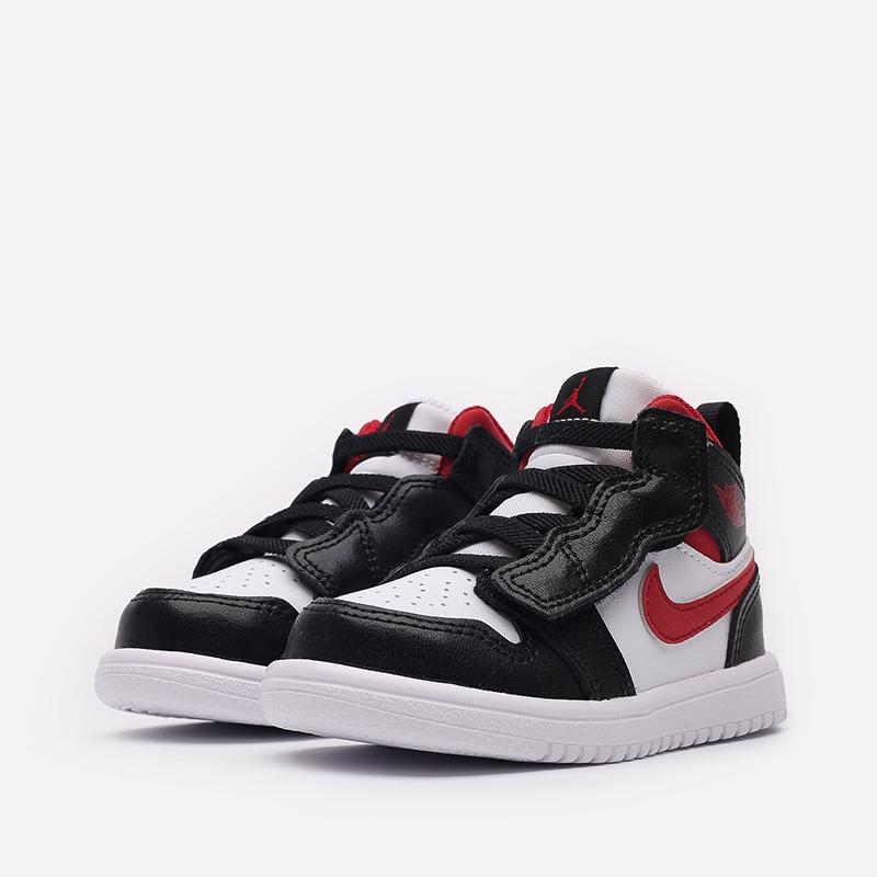 детские чёрные, красные, белые  кроссовки jordan 1 mid alt (td) AR6352-122 - цена, описание, фото 2