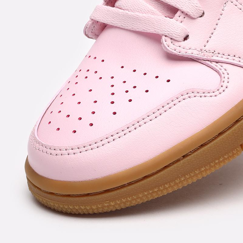 женские розовые  кроссовки jordan wmns 1 low DC0774-601 - цена, описание, фото 4