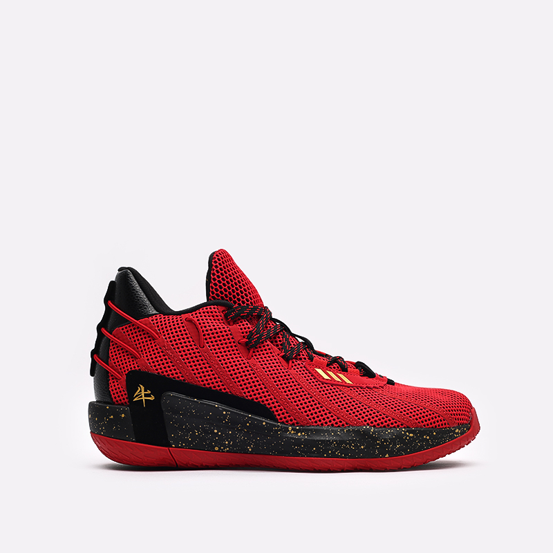 красные, чёрные  кроссовки adidas dame 7 gca FY3442 - цена, описание, фото 1
