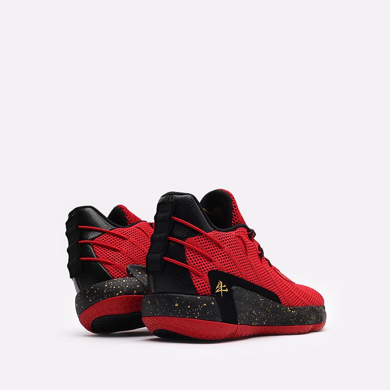 красные, чёрные  кроссовки adidas dame 7 gca FY3442 - цена, описание, фото 3