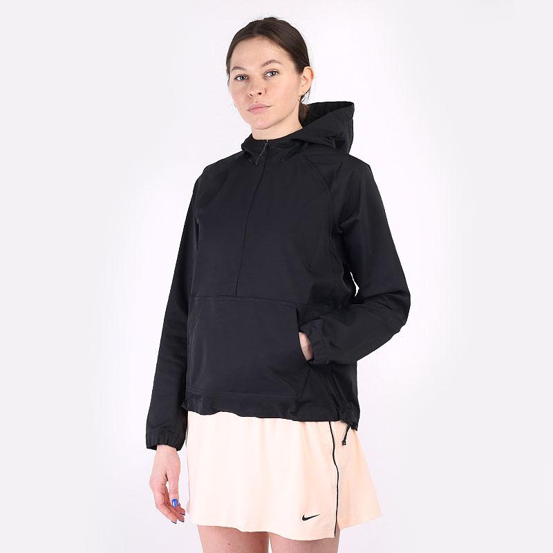 женскую черную  куртку nike repel golf anorak CU9663-010 - цена, описание, фото 1
