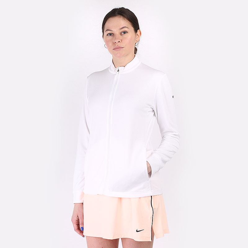 женскую белую  толстовка nike dri-fit uv victory full-zip golf top CU9664-100 - цена, описание, фото 1