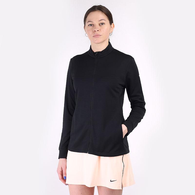 женскую черную  толстовка nike dri-fit uv victory full-zip golf top CU9664-010 - цена, описание, фото 1
