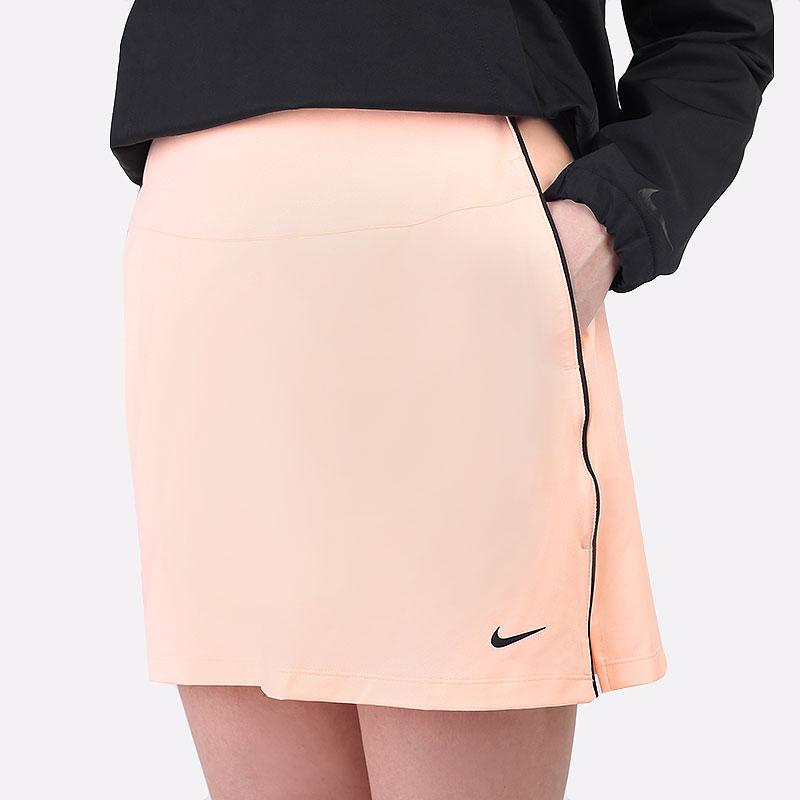 женскую оранжевую  юбка nike dri-fit uv victory golf skirt CU9657-814 - цена, описание, фото 1
