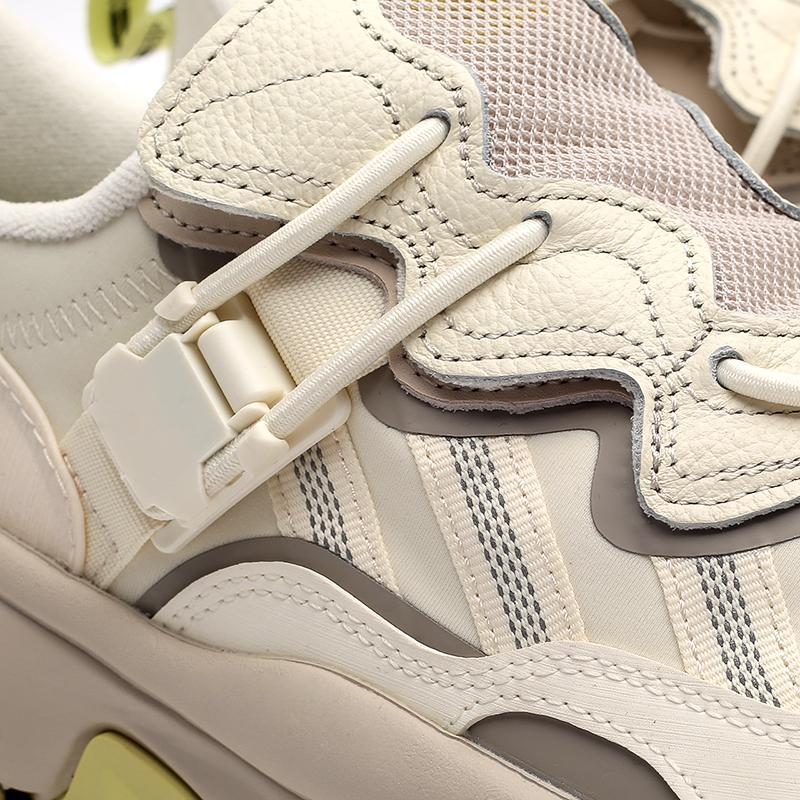 мужские бежевые  кроссовки adidas ozweego flipshield FX6047 - цена, описание, фото 7