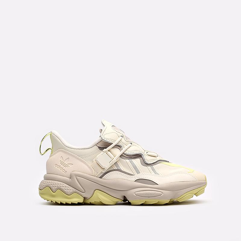 мужские бежевые  кроссовки adidas ozweego flipshield FX6047 - цена, описание, фото 1