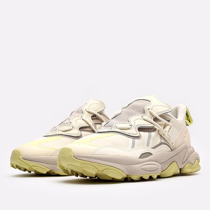 мужские бежевые  кроссовки adidas ozweego flipshield FX6047 - цена, описание, фото 2