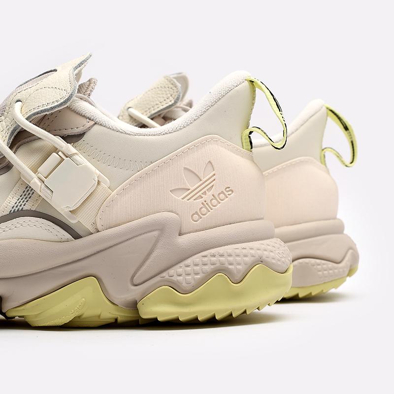 мужские бежевые  кроссовки adidas ozweego flipshield FX6047 - цена, описание, фото 5