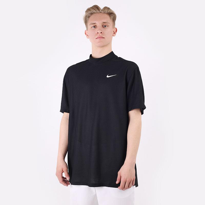 мужскую черную  футболка nike dri-fit tiger woods short-sleeve CU9526-010 - цена, описание, фото 1