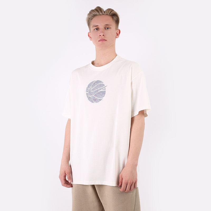 мужскую бежевую  футболка nike basketball t-shirt DD0828-901 - цена, описание, фото 1