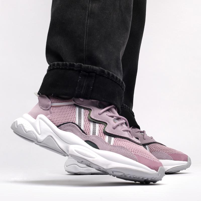 мужские фиолетовые  кроссовки adidas ozweego w EG9205 - цена, описание, фото 8