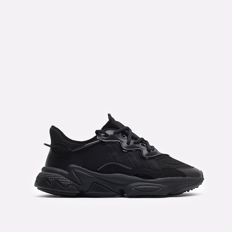 мужские чёрные  кроссовки adidas ozweego FX6028 - цена, описание, фото 1