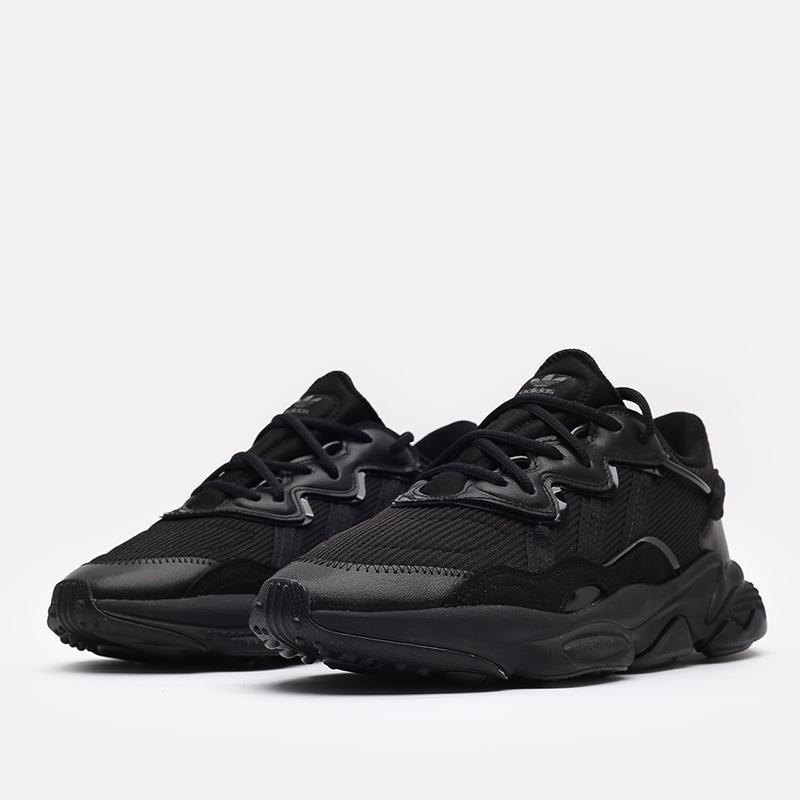 мужские чёрные  кроссовки adidas ozweego FX6028 - цена, описание, фото 2