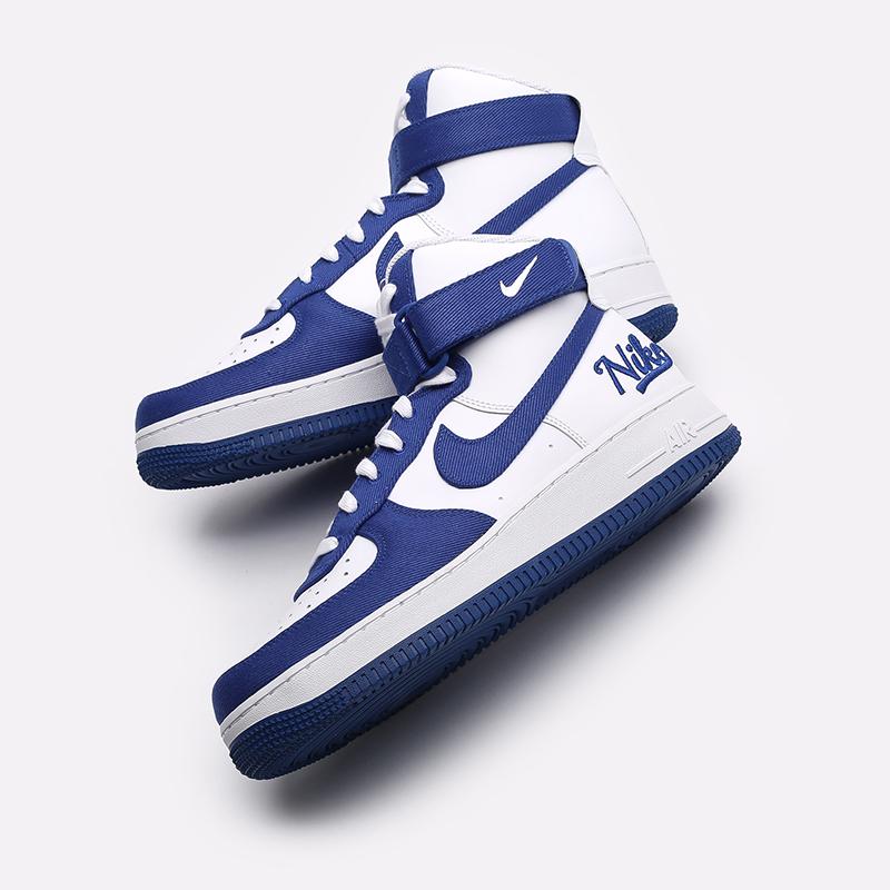 мужские белые, синие  кроссовки nike air force 1 high '07 lv8 emb DC8168-100 - цена, описание, фото 7