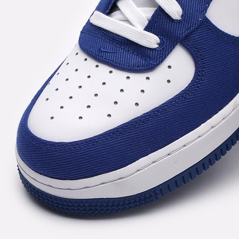 мужские белые, синие  кроссовки nike air force 1 high '07 lv8 emb DC8168-100 - цена, описание, фото 6