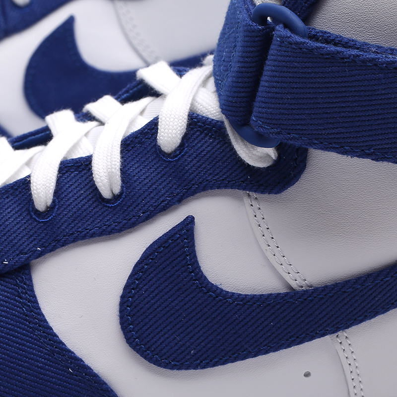 мужские белые, синие  кроссовки nike air force 1 high '07 lv8 emb DC8168-100 - цена, описание, фото 5