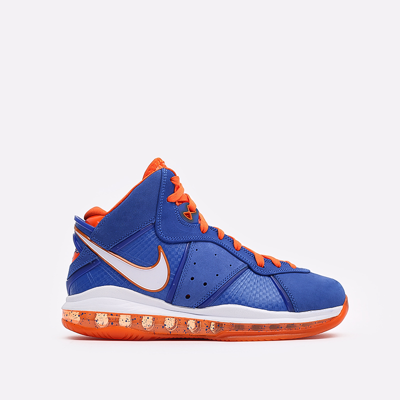 мужские синие, оранжевые  кроссовки nike lebron viii qs CV1750-400 - цена, описание, фото 1