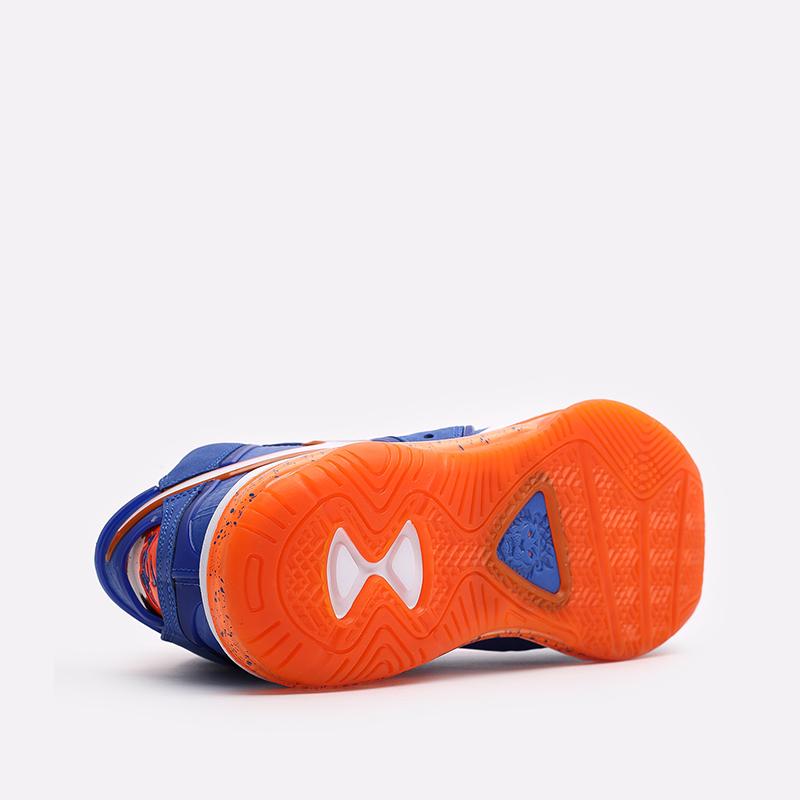 мужские синие, оранжевые  кроссовки nike lebron viii qs CV1750-400 - цена, описание, фото 3
