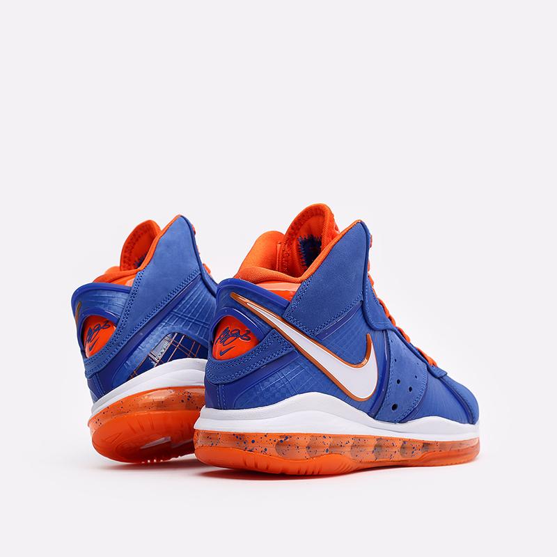 мужские синие, оранжевые  кроссовки nike lebron viii qs CV1750-400 - цена, описание, фото 4