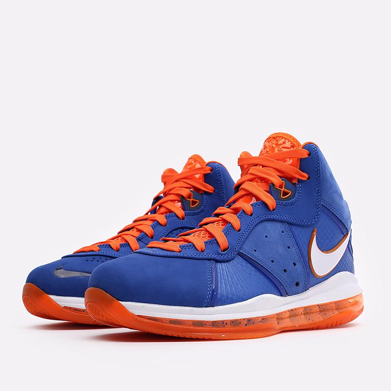 мужские синие, оранжевые  кроссовки nike lebron viii qs CV1750-400 - цена, описание, фото 2