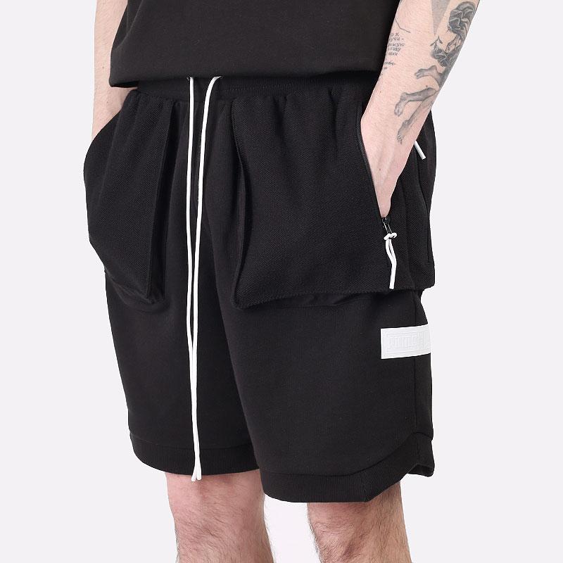 мужские черные  шорты  puma standby shorts 53032804 - цена, описание, фото 1