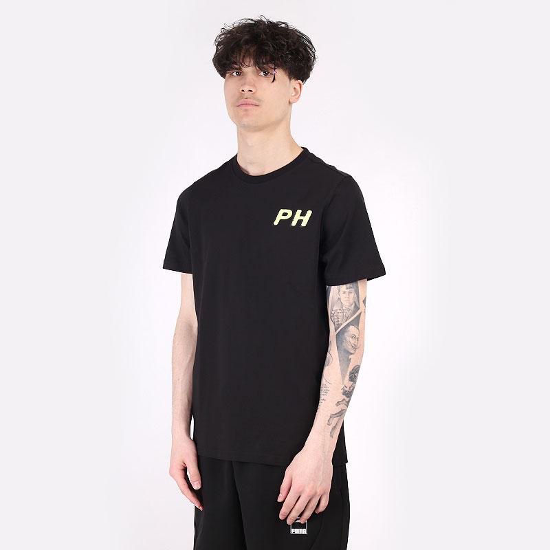 мужскую черную  футболка puma bp ss tee 1 53073004 - цена, описание, фото 1