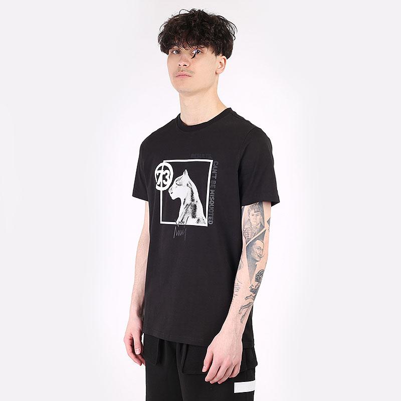мужскую черную  футболка puma franchise hoops ss 53072602 - цена, описание, фото 1
