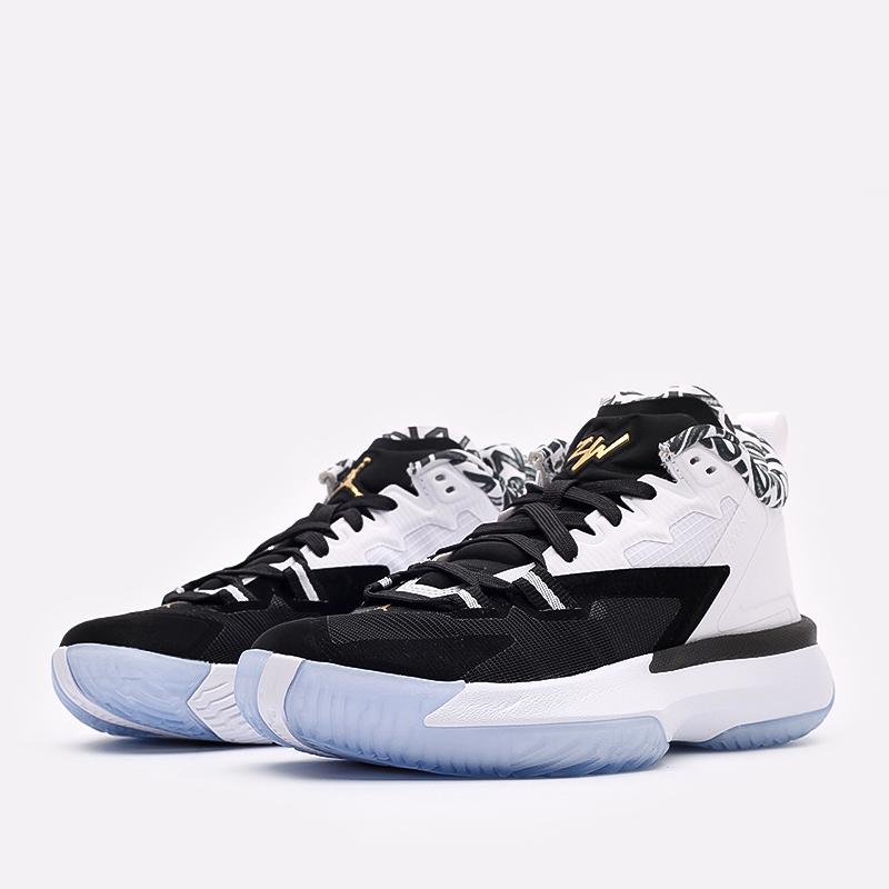женские чёрные, белые  кроссовки jordan zion 1 (gs) DA3131-002 - цена, описание, фото 2