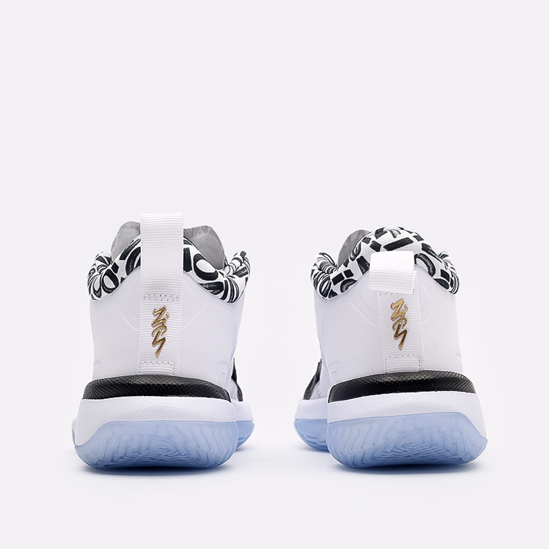 женские чёрные, белые  кроссовки jordan zion 1 (gs) DA3131-002 - цена, описание, фото 3