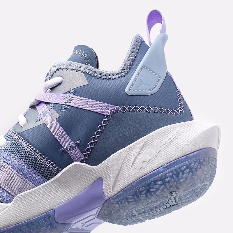 женские синие  кроссовки jordan why not zero.4 (gs) CQ9430-400 - цена, описание, фото 5