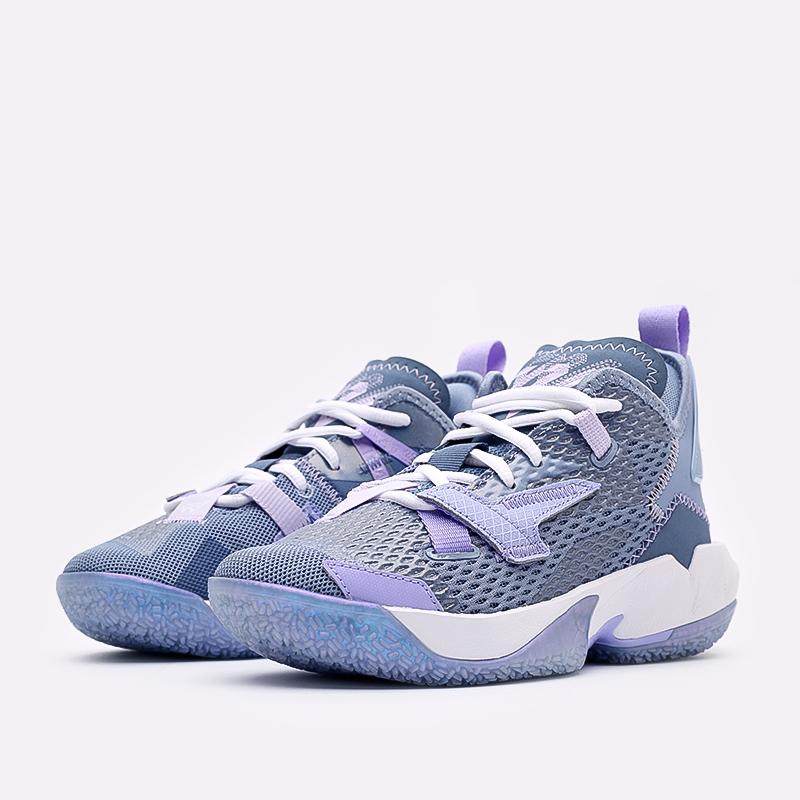 женские синие  кроссовки jordan why not zero.4 (gs) CQ9430-400 - цена, описание, фото 2