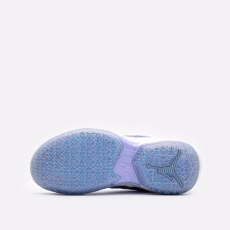 женские синие  кроссовки jordan why not zero.4 (gs) CQ9430-400 - цена, описание, фото 4