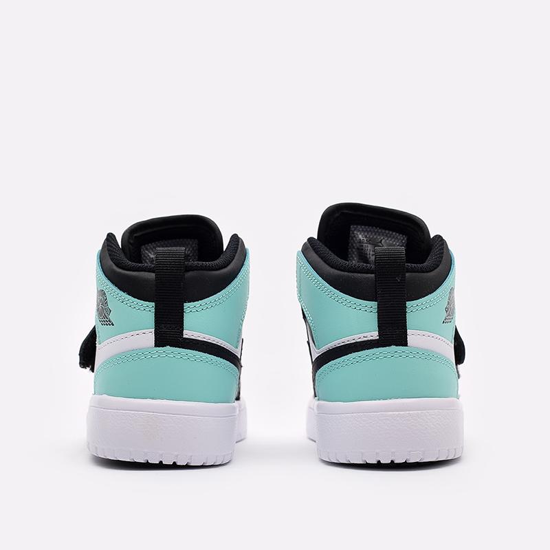 детские чёрные, белые, голубые  кроссовки jordan sky 1 (ps) BQ7197-032 - цена, описание, фото 4
