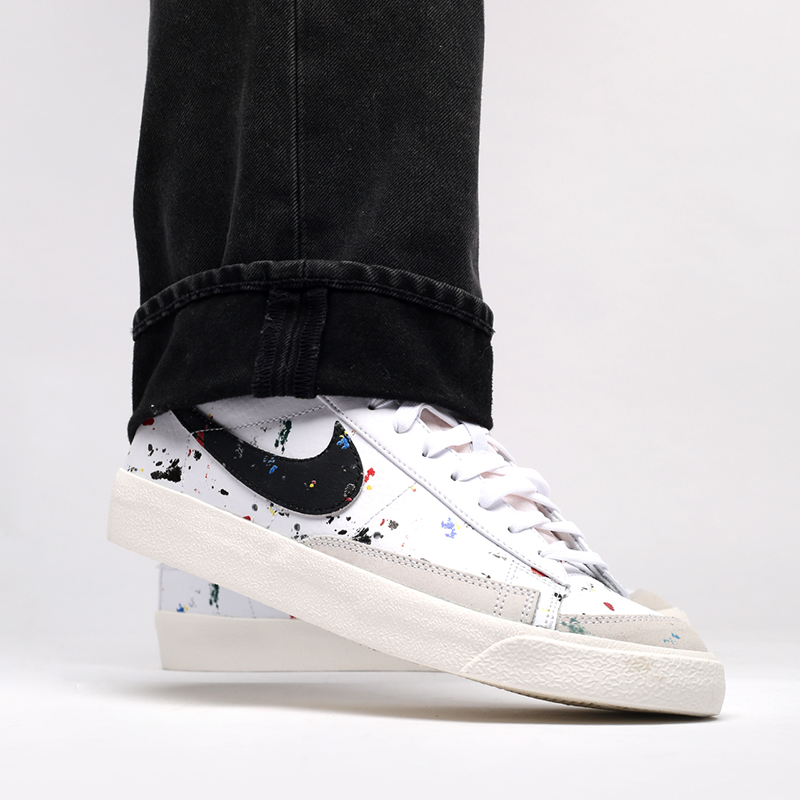мужские белые  кроссовки nike blazer mid '77 DC7331-100 - цена, описание, фото 8