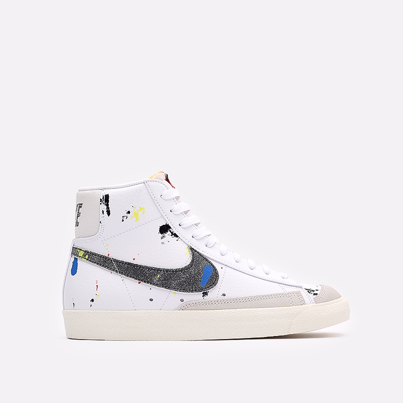 мужские белые  кроссовки nike blazer mid '77 DC7331-100 - цена, описание, фото 1
