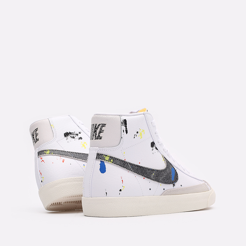 мужские белые  кроссовки nike blazer mid '77 DC7331-100 - цена, описание, фото 3
