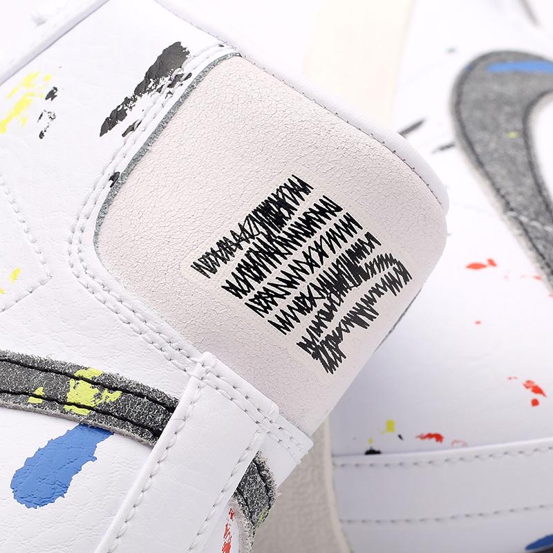 мужские белые  кроссовки nike blazer mid '77 DC7331-100 - цена, описание, фото 5