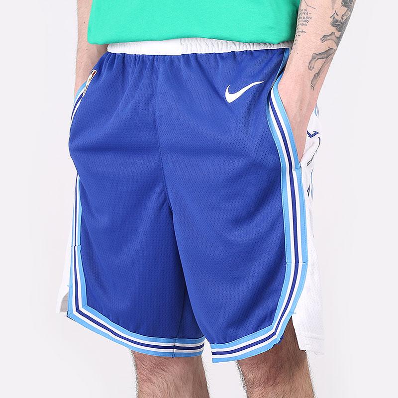 мужские синие  шорты  nike nba swingman shorts los angeles lakers classic edition 2020 CN1029-495 - цена, описание, фото 1