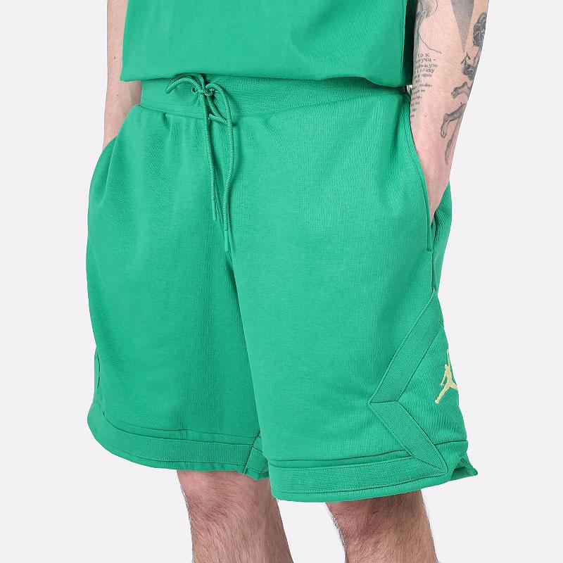 мужские зеленые  шорты  jordan jumpman diamond shorts DC7576-372 - цена, описание, фото 1
