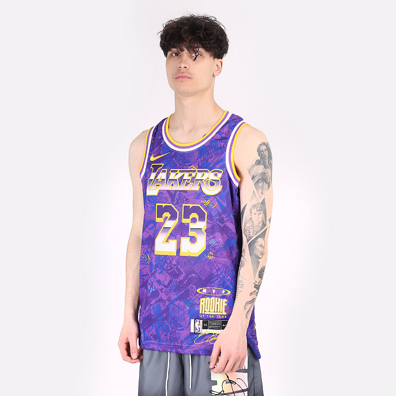 мужскую фиолетовую  майку nike nba jersey select series lebron james DA6951-504 - цена, описание, фото 1